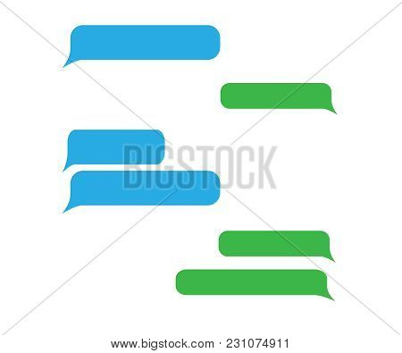 Short Message Service Bubbles. Vector Chat Bubbles