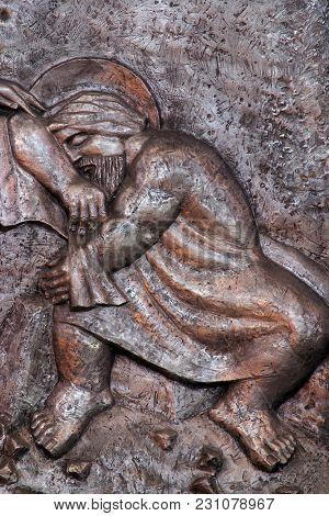 VARAZDIN, CROATIA - OCTOBER 25: Joseph's dream, Saint Joseph parish church in Varazdin, Croatia on October 25, 2012.