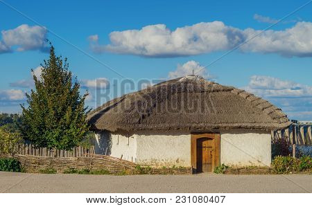An Old Traditional Rural House In Ukraine