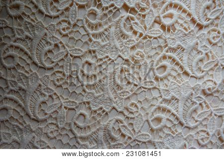 Beige Net Like Lace Directly From Above