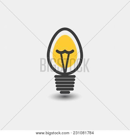 Light Bulb Icon Isolated On White Background. Symbol Of Lighting, Electric. Idea Sign, Thinking Conc