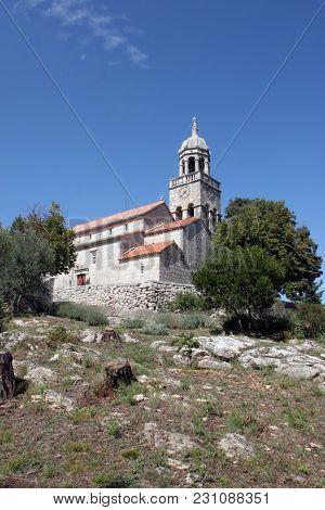 ZRNOVO, CROATIA - SEPTEMBER 02: Saint Martin Church in Zrnovo, Croatia, on September 02, 2016.