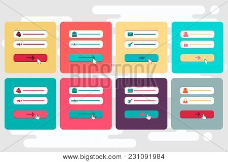 Web Template And Elements For Site Form Of Email Subscribe, Newsletter Or Login To Account, Submit.