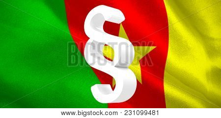 Vector icon of section symbol against digitally generated cameroon national flag