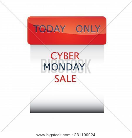 Cyber Monday Sale Icon Firm Form Isolated On A Black Background Vector