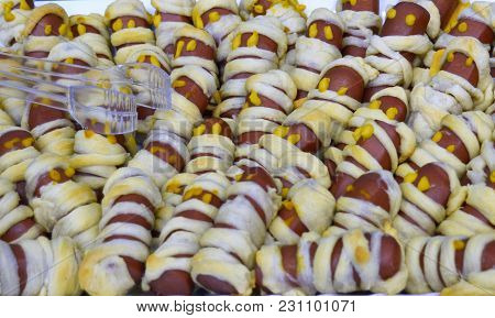 Sausage Wrapped As Mummies Halloween Party Food