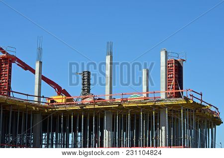 Building Under Construction In A Pubic Place