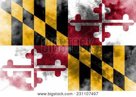 Maryland State Grunge Flag, United States Of America