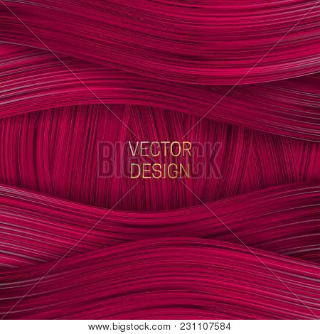 Volumetric Frame On Saturated Pink Background. Trendy Packaging Design Or Cover Template.