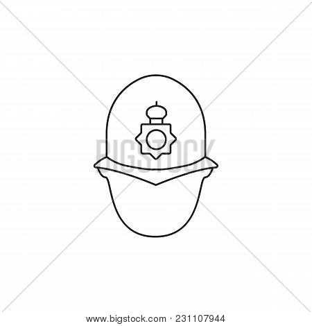 English Police Man Icon. Outline English Police Man Vector Icon For Web Design Isolated On White Bac