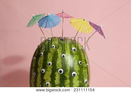 Watermelon Umbrella Hair Cocktail