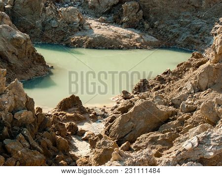 Nature And Landscape Of The Dead Sea In Israel