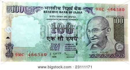 hundred rupee indian note