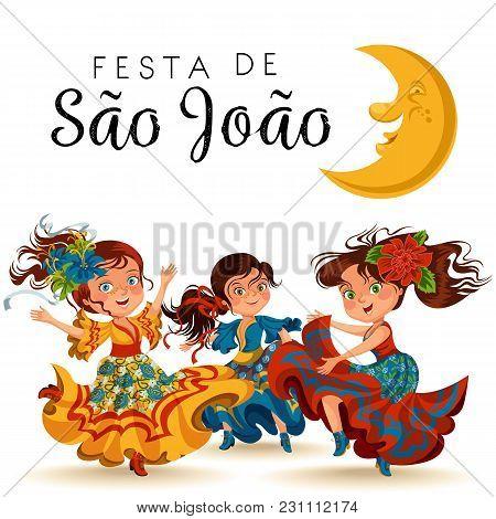 Young Woman Dancing Salsa On Festivals Celebrated In Portugal Festa De Sao Joao, Girl Wear Flower In