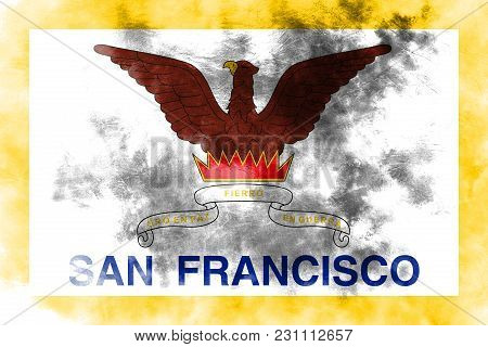 San Francisco City Smoke Flag, California State, United States Of America
