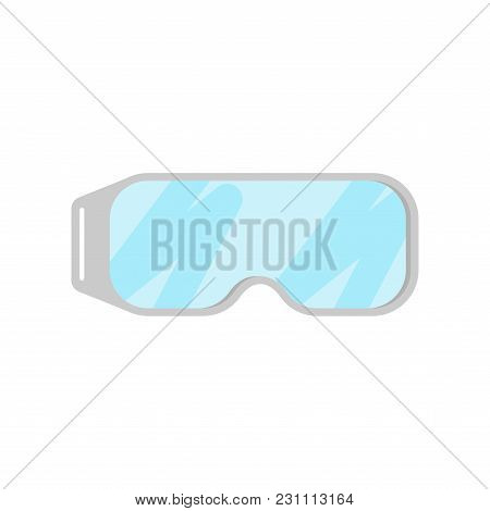 Chemical Protection Glasses Isolated. Laboratory Accessory Vector Illustration