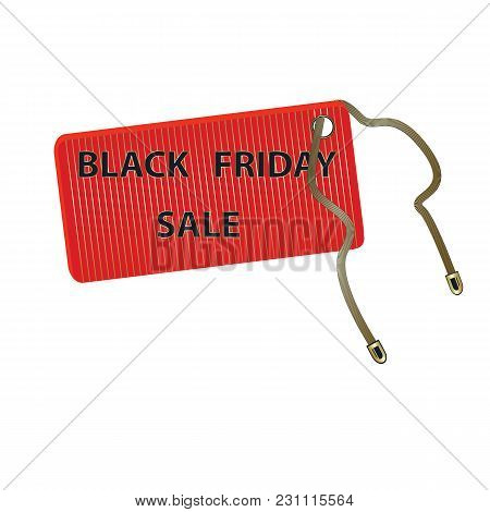 Icon Label Red Black Friday Sale Isolated On A White Background Element For Design Vector