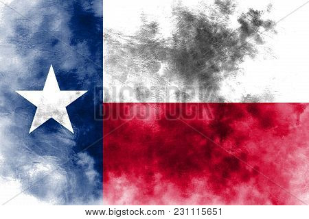 Texas State Grunge Flag, United States Of America