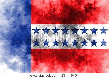 Tuamotu Archipelago Grunge Flag, Groups Of Islands In French Polynesian