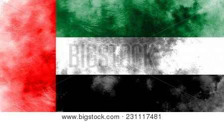 Old United Arab Emirates Grunge Background Flag