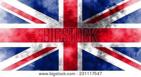 Old United Kingdom Grunge Background Flag, United Kingdom
