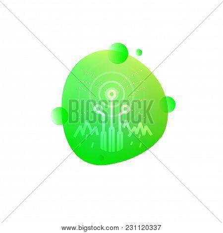 Vector Illustration Of Hi-tech Smart Sprinkler System Icon Isolated On White Background.