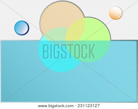 Abstract Geometric Landscape Background With Buttons And Circles