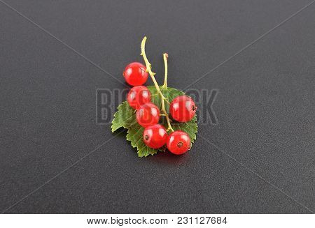 Colorful And Crisp Image Of Red Currant On Black