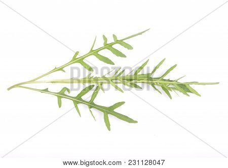 Colorful And Crisp Image Of Roquette On White Background