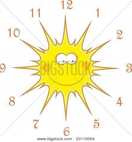 Sun watches, vector illustration
