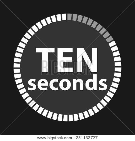 Stopwatch, Stopwatch Icon, Seconds Countdown. The Clock Is Ticking. Flat Design, Vector Illustration