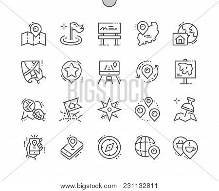Location Well-crafted Pixel Perfect Vector Thin Line Icons 30 2x Grid For Web Graphics And Apps. Sim