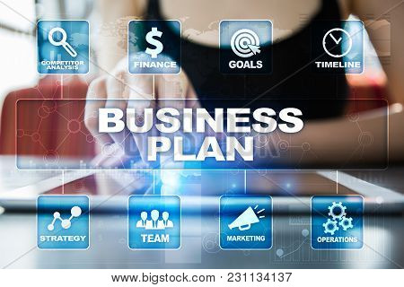 Business Plan And Strategy Concept On The Virtual Screen