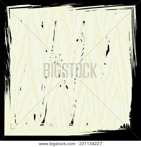 Abstract Art Grunge Shabby Style For Creative Design Vector On A Black Background