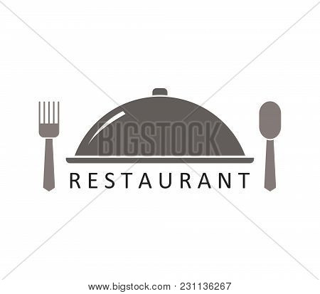 Restaurant Logo Icon In Vector On White Background
