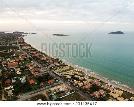 Beautiful Aerial Drone View Of Praia Rasa, Buzios, Brazil