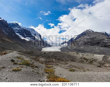 Athabasca Glacier At Columbia Icefield Japser National Park Alberta Canada