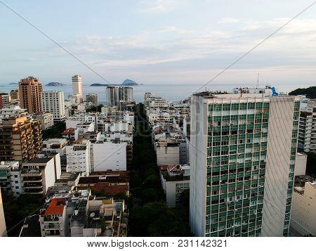 Beautiful Aerial Drone View Of Leblon, Rio De Janeiro, Brazil