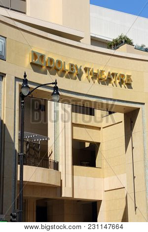 Los Angeles, Usa - April 5, 2014: Dolby Theatre In Hollywood. Formerly Known As Kodak Theatre, It Is