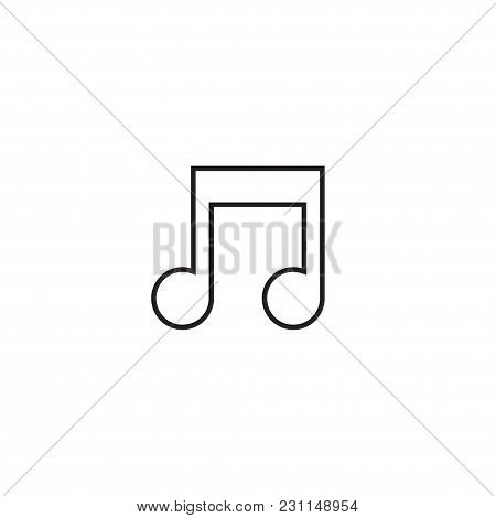 Music Note Icon. Song Key Sign. Melody Symbol. Thin Line Icon On White Background. Vector Illustrati
