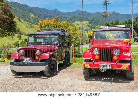 Salento March 2018 These Old Willys Jeeps Parked At The Entrance Of Cocora Valley In Salento Colombi
