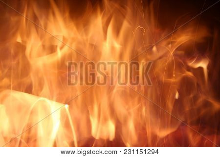 A Orange Wild Glowing Fire Background Image