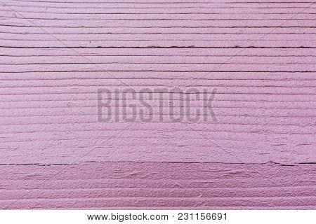 Purple Painted Natural Wood Texture Background. Detailed Horizontal Wood Grain.