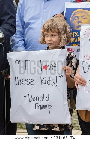 Beverly Hills, California - March 12, 2018: At The Defend Dreamers Rally Hosted By Coalition For Hum