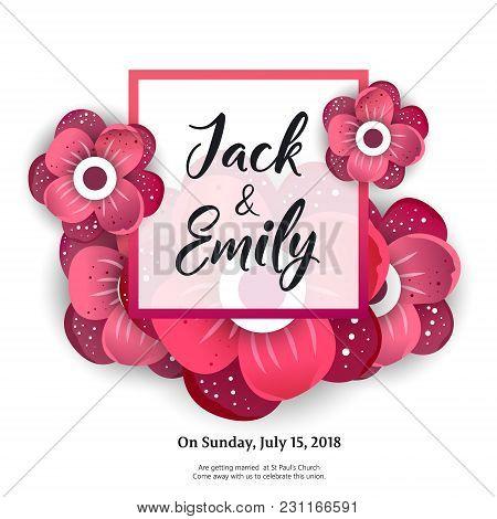 Wedding Invitation, Floral Invite Card Design Wedding Invite Flyer. Wedding Invite Poster.