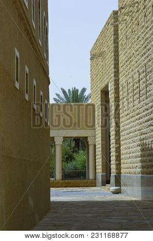 Passage Between Buldings At King Abdul Aziz Historical Center In Riyadh, Saudi Arabia On 04-30-2006