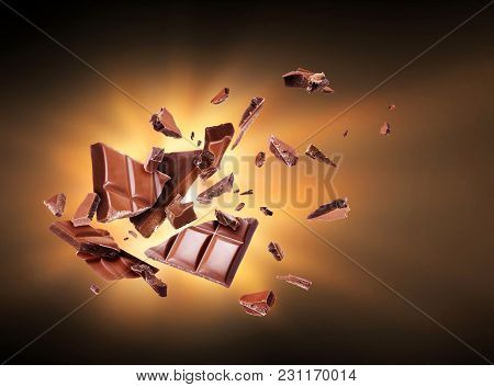 Chocolate Is Torn To Pieces In The Dark