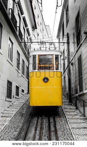 Ascensor Do Lavra Funicular Lisbon Portugal Picture