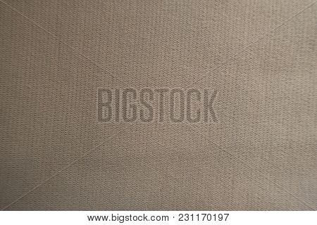 Texture Of Beige Jersey Fabric From Above