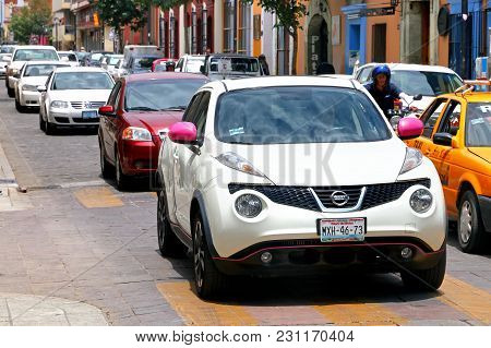 Oaxaca, Mexico - May 25, 2017: Motor Car Nissan Juke In The City Street.